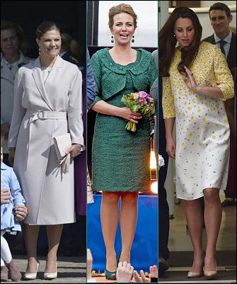 (L-R)Crown Princess Victoria, Princess Annette, The Duchess of Cambridge.
