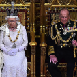 Queen Elizabeth and Prince Philip attend the state opening of parliament at the Palace of Westminster; 27-05-2015