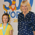 Camilla with one of the winners of BBC's 500 Words Competition; 29-05-2015