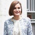 Queen Letizia arrives for a working meeting with the AECC; 04-05-2015