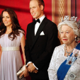 Waxworks of the British Royal Family have gone on show in Washington, D.C.