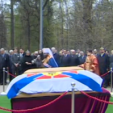 The remains of Grand Duke Nicholas Nikolaevich of Russia and his wife Anastasia are blessed before they reburial in Moscow; 30-04-2015
