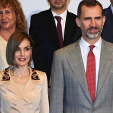 Queen Letizia and King Felipe present journalism awards in Madrid; 07-05-2015