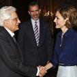King Felipe and Queen Letizia meet with Italian President Mattarella; 11-05-2015