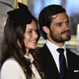 Sofia Hellqvist and Prince Carl Philip attend a reception following their marriage banns; 17-05-2015