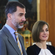 King Felipe and Queen Letizia at audiences at Zarzuela Palace; 18-05-2015