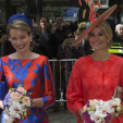 Queen Mathilde and Queen Maxima at the opening of the outdoor exhibition in The Hague; 20-05-2015