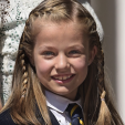 The Princess of Asturias ahead of her first holy communion; 20-05-2015