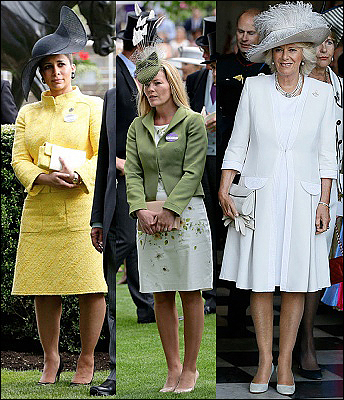 (L-R) Princess Haya,  Autumn Phillips and The Duchess of Cornwall.