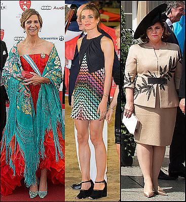 (L-R) Infanta Elena, Charlotte Casiraghi, Grand DuchessMaria Teresa.