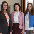 Queen Silvia and Princess Madeleine with Melinda Gates; 04-06-2015