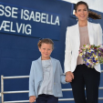 Princess Isabella and Crown Princess Mary during their visit to Samso; 06-06-2015