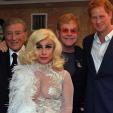 Prince Harry with Tony Bennett, Lady Gaga and Sir Elton John; 08-06-2015