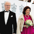 King Carl Gustaf and Queen Silvia arrive for the Polar Music Prize; 09-06-2015