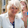 The Duchess of Cornwall attends the unveiling of an elephant statue in Duke of York Square, Chelsea; 11-06-2015