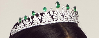 Princess Sofia's diamond and emerald tiara