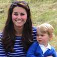 The Duchess of Cambridge and Prince George at the polo in Tetbury; 14-06-2015
