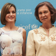 Queen Letizia and Queen Sofia at the meeting of the UNICEF Spanish Committee; 23-06-2015