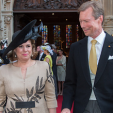 Grand Duchess Maria Teresa and Grand Duke Henri during the national day celebrations; 23-06-2015