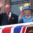 Prince Philip and Queen Elizabeth in Frankfurt; 25-06-2015