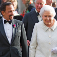 The Sultan of Brunei and Queen Elizabeth arrive for the Gurkha 200 pageant at the Royal Hospital Chelsea; 09-06-2015