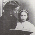 Princess Victoria of Baden with her mother, Louise of Prussia