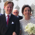 Prince Michael and Princess Christina of Baden after their wedding ceremony; 04-07-2015