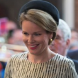 Queen Mathilde arrives for the 30,000th Last Post sounding at the Menin Gate in Ypres; 09-07-2015
