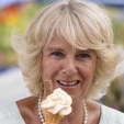 The Duchess of Cornwall enjoys an ice-cream at the Hampton Court Flower Show; 01-07-2015