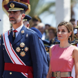 King Felipe and Queen Letizia attend a military ceremony in San Javier; 14-07-2015