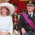 Queen Mathilde and King Philippe attend the National Day military parade; 21-07-2015