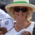 The Duchess of Cornwall attends day four of the Wimbledon tennis championship; 02-07-2015