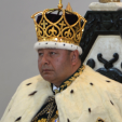 Tonga's King Tupou VI at his coronation ceremony; 04-07-2015