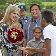 Queen Maxima visits a pineapple farm in the Philippines