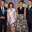 King Carl Gustaf, Queen Silvia, Crown Princess Victoria and Prince Daniel attend the 90th anniversary concert of Radio Sweden; 21-08-2015