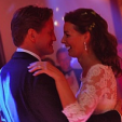 Prince Pieter-Christiaan and Princess Anita dance during their wedding reception
