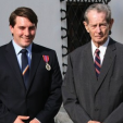 King Michael of Romania with his grandson Nicholas