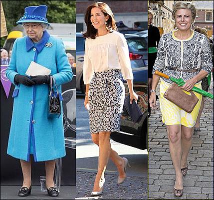 (L-R) Queen Elizabeth, Crown Princess Mary, Princess Laurentien.