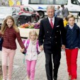 King Philippe accompanies three of his children to their first day of school for the year 2015-2016; 01-09-2015
