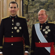 King Felipe and King Juan Carlos on the day of the abdication; June 2014
