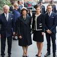 King Carl Gustaf, Queen Silvia, Crown Princess Victoria and Prince Daniel arrive for the opening of parliament; 15-09-2015
