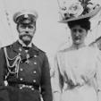Tsar Nicholas II and Tsarina Alexandra in 1908