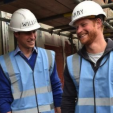 Prince William and Prince Harry during their visit to the BBC's DIY SOS project to benefit veterans; 23-09-2015