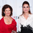 Queen Silvia and Queen Rania at the World Childhood Foundation's ThankYou Gala in New York; 24-09-2015