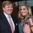 King Willem-Alexander and Queen Maxima arrive for the concert to conclude celebrations of their Kingdom's 200th anniversary