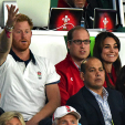 Harry, William and Kate at the England v Wales match of the Rugby World Cup; 26-09-2015