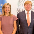 Queen Maxima and King Willem-Alexander during their visit to the United Nations; 29-09-2015