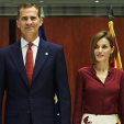 King Felipe and Queen Letizia at the lunch for the constitutional court's anniversary; 09-09-2015