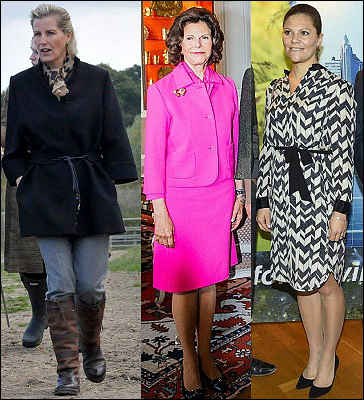 (L-R) Countess of Wessex, Queen Silvia, Crown Princess Victoria.