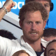 Prince Harry reacts to game action during the England v Australia pool match of the Rugby World Cup; 03-10-2015